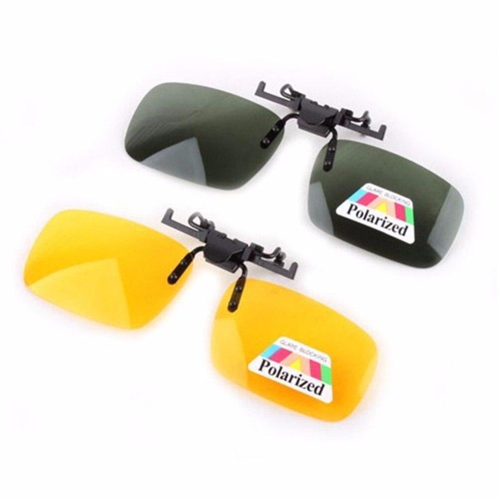 Dia Óculos de Visão Noturna Clipe óculos Polarizados Clip sobre Óculos de Resina Óculos de Lente de Óculos De Sol para Óculos de Miopia Estilo Do Carro de Condução