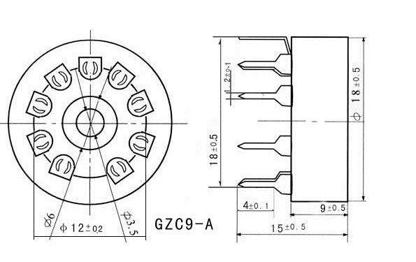 online shop 20pcs ceramic tube socket tube holder gzc9 a small 9 pin el84 parallel 20pcs ceramic tube socket tube holder gzc9 a small 9 pin outlet for 12ax7 el84 6dj8 6922