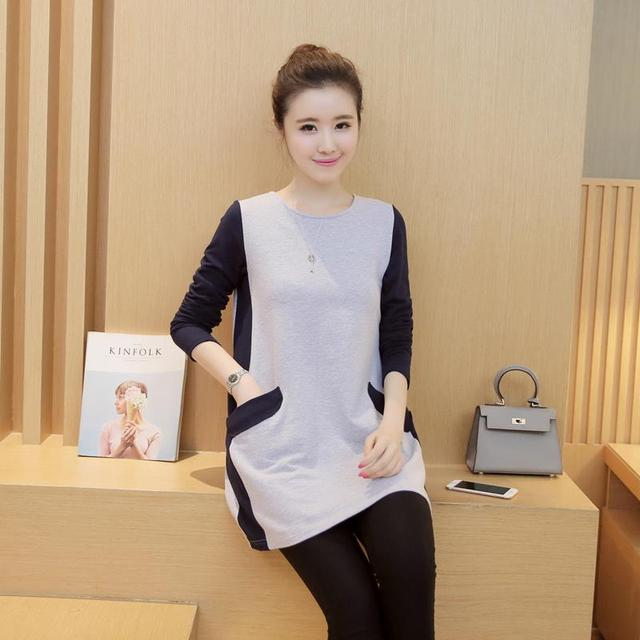 New Maternity Clothes Women Cotton Mini Dress Pregnant Clothing for Maternity Tee Vestido Casual T-shirt Knitted Premama B82
