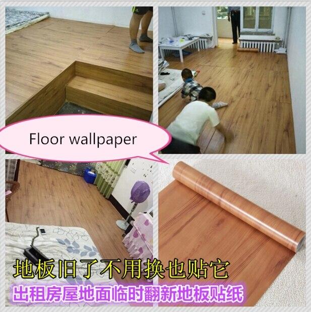 ФОТО self-adhesive wallpaper wall paper thickening imitation wood furniture PVC floor waterproof cabinets renovation wall stickers