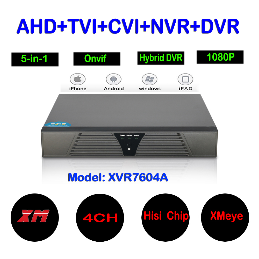 New 1080P AHD-N H Hybrid 4 Channel AHD TVI CVI IP Camera Recorder 5 in 1 DVR 2MP CCTV Video Recorder Hybrid DVR NVR HVR System cctv camera dvr system ahd 720p kit optional 2 3 4 channel cctv dvr hvr nvr 3 in 1 video recorder infrared dome camera security