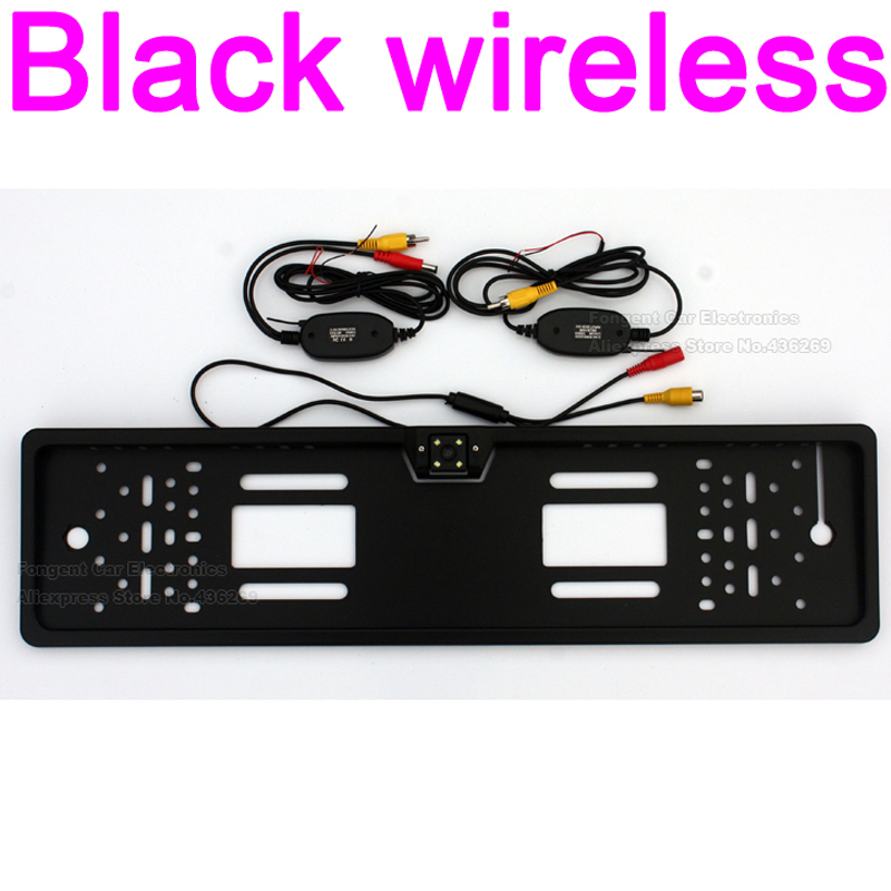 Wire/ Wireless Vehicle Camera European License Plate Frame Backup Car Number Rear View Reverse parcking Camera Waterproof LED