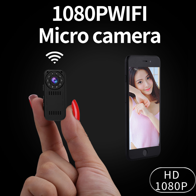 Mini Camcorder P2P Wireless IP Camera Video Recording Wifi Cam 1080P High Resolution Controlled by font