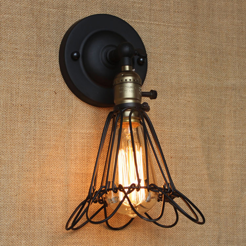 ФОТО Wall Lamps Simple Modern Industrial Loft Edison wall light Retro Vintage Wall Lamp Wall Sconces for cafe bar restaurant Lighting