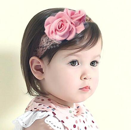 ON SALE 1PCS 2016 Childrens hair accessories baby Flower Headband elastic hair band Infant Newborn photo props Lace head band
