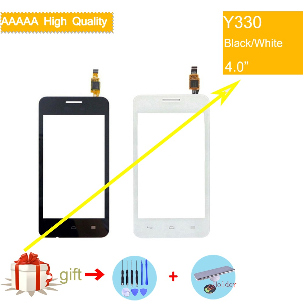 For Huawei Ascend Y330 Touch Screen Touch Panel Sensor Digitizer Front Outer Glass Lens Touchscreen No LCD black white in Mobile Phone Touch Panel from Cellphones Telecommunications