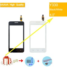 For Huawei Ascend Y330 Touch Screen Touch Panel Sensor Digitizer Front Outer Glass Lens Touchscreen No LCD black white