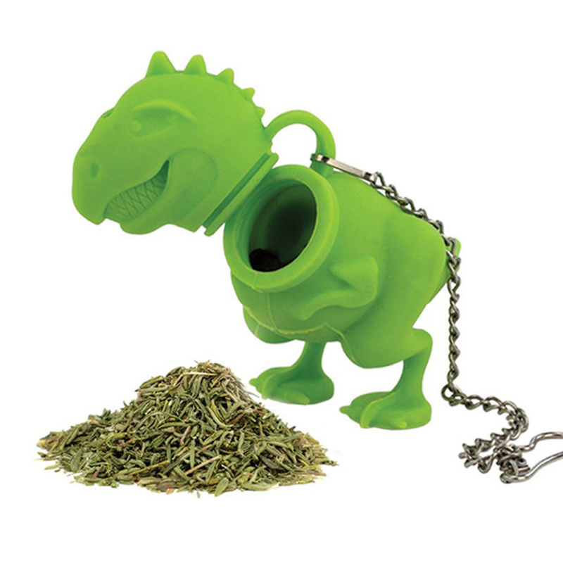 Dinosaur Popular New Tea Filter Tea Bag Holder Tea Infuser Loose Leaf Strainer Herbal Silicone Filter Diffuser Tea Accessories