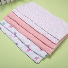 6 Pieces Baby Muslin Nappy 50*70 cm Repeated Use Gauze Diaper Newborn Soft Cotton Wash Safe Cloth Diaper