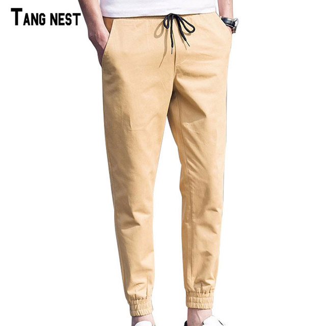 TANGNEST Men Pants 2017 New Arrival Korean Style Casual Solid Pant Men's Comfortable Fashion Pants For Man Oversized MKX1123