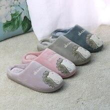 2018 Women Slippers Cartoon Hedgehog Winter Fur House Slippers Indoor Outdoor Plush Ladies Shoes Women Couple Zapatillas Mujer