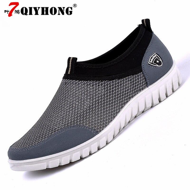 Men's Casual Shoes Sneakers Summer Mesh Breathable Comfortable Men Shoes Loafers Footwears Slipon Walking Big Size 38-48