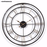 Homingdeco 24 inch 3D large wall clock vintage Vintage Style hollow out Household Bedroom Art Clocks Livingroom Wall home Decor