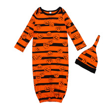 Newborn Baby Sleepwear  Halloween Pijama Long-Sleeved +Hat 2pc Suits Boys And Girls