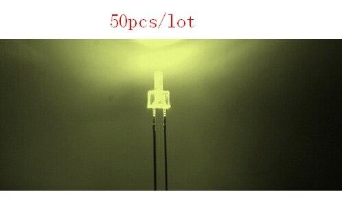 Through Hole 50pcs/lot Water Clear Tower <font><b>2mm</b></font> Warm <font><b>White</b></font> <font><b>LED</b></font> Diode
