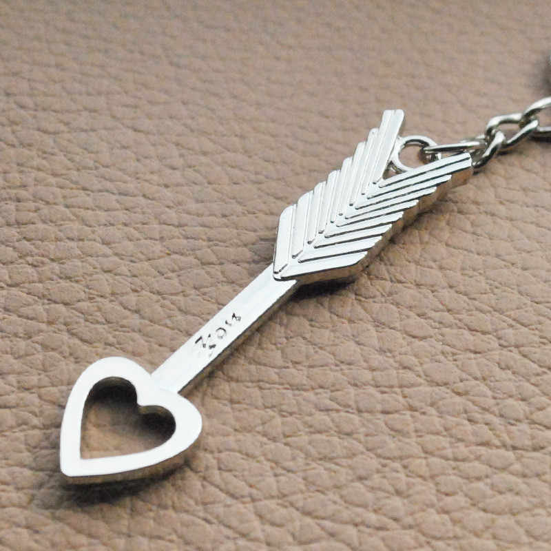 Поп-креативный любителей купидона брелок стрела любителей цепочка для ключей в форме сердца кольцо Повседневное брелок ювелирные изделия День Святого Валентина Юбилей подарок