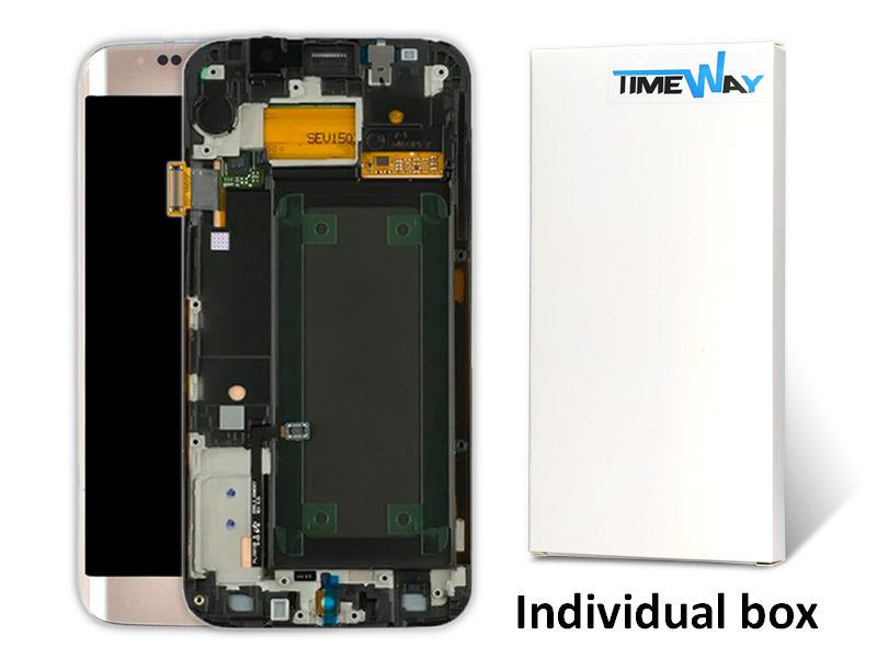 5 pcs White/black/gold/green For Samsung Galaxy S6 Edge G925F LCD Display With Touch Screen Digitizer+Frame free DHL shipping factory price lcd screen for samsung galaxy s6 edge lcd display touch screen digitizer g925f g925s g925p g925a free shipping