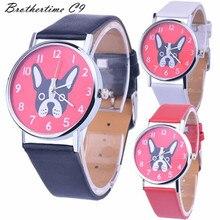 Новые Приходят Мода Часы Повседневная Top Brand Стальной Браслет Наручные Часы Женщины Дамы Случайный Montre Собака Напечатаны Милый Час подарок