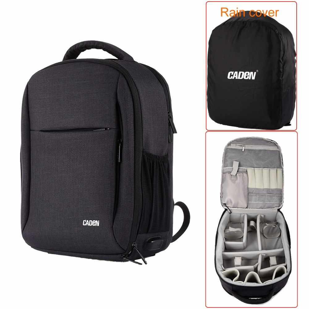 Practical CADeN W9 RC Drone Travel Camera Backpack for DJI Mavic Pro Water Resistant with Customizable Interior and Rain cover