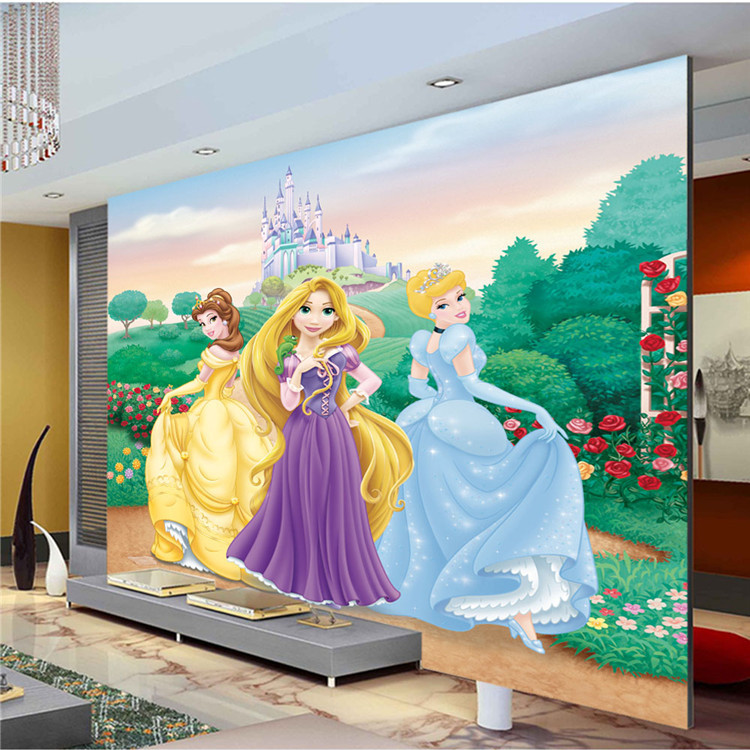 Lovely Princess Wallpaper Cartoon Photo Wallpaper For Girls Room Silk Wall  Art Mural Snow White Rapunzel Part 97