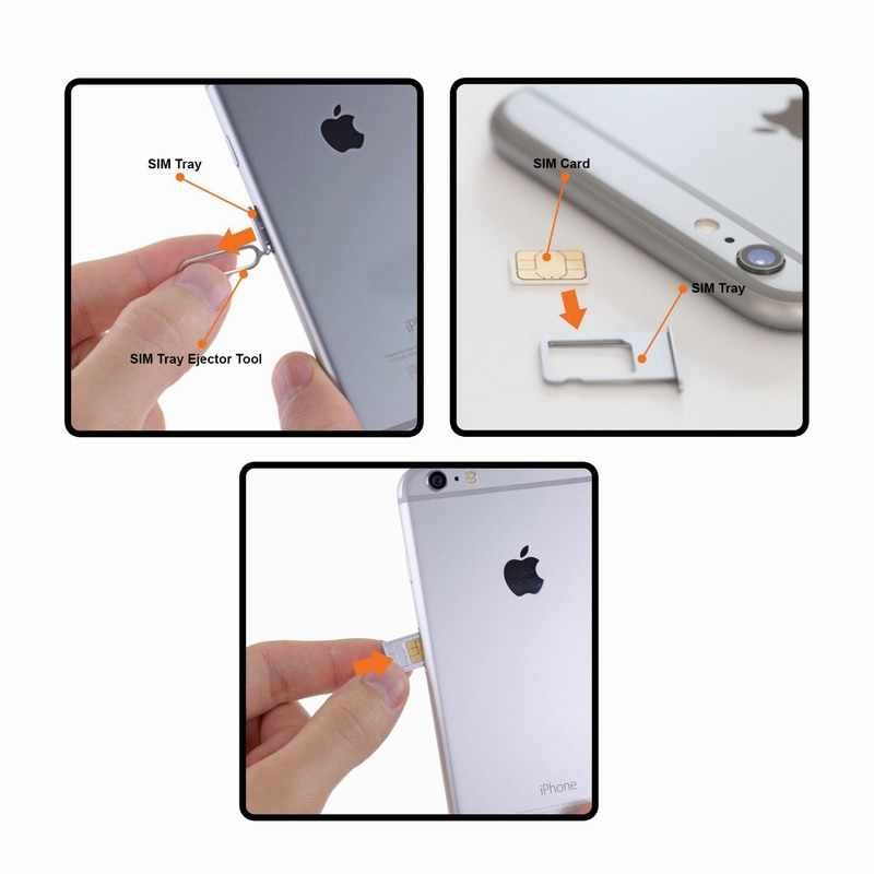 Sim card tray ejector eject pin key removal tool cho iphone apple 6 6 s 7 cộng với huawei p8 lite p9 xiaomi redmi 4 pro note 3 điện thoại