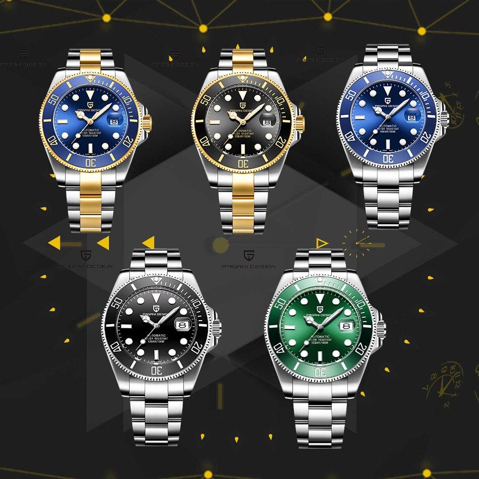 42 мм Corgeut/стерильный циферблат/Часы с сапфировым стеклом черный циферблат автоматические механические мужские наручные часы - 3