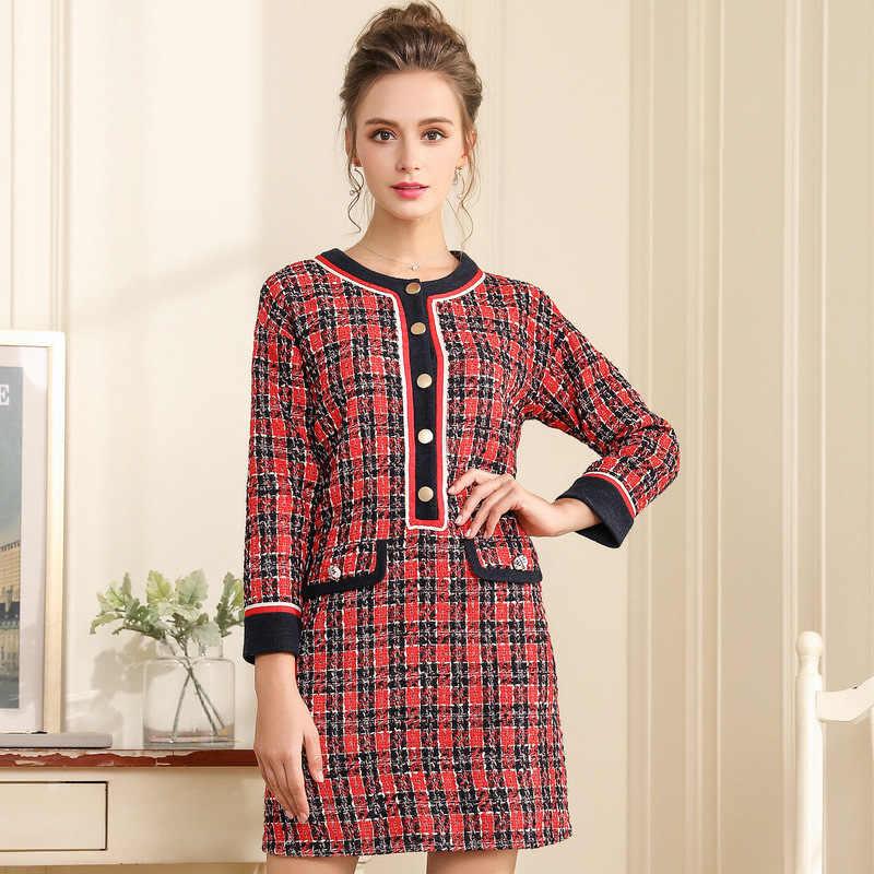 8f48fc44b13 OUYALIN L- 3XL 4XL 5XL Plus size Dress 2018 Women Long sleeve Autumn Winter  Office
