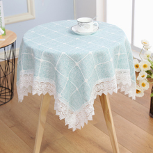 Coffee Bar European style Lace Table Cloth Large Cotton Linen Table Cover For Kitchen Dinner Lattice Table Cloth Home Textile europe style cotton linen table cloth country style solid multifunctional table cloth rectangular table cover home kitchen decor