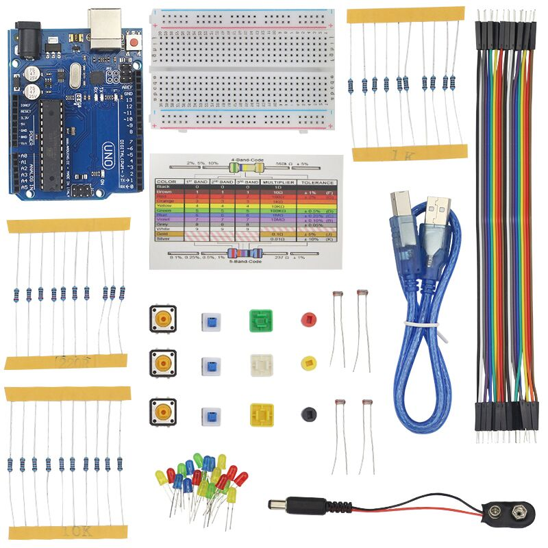 Raspberry Pi 3 Light Basic Learning Starter Kit + Breadboard For UNO R3 For DIY With High Quality Retail Box