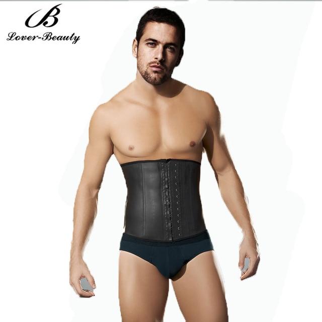 7bde503d029 Waist Training Corsets For Men Faja Hombre Plus Size 6XL Mens Bodysuit  Latex Waist Trainer Body Shaper Waist Cincher colete C533