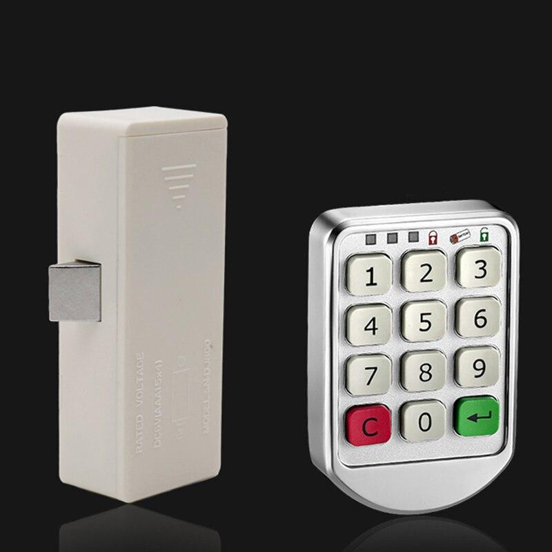 Electronic Digital Password Lock Digital Key Pad Numbers Door Lock Combination Drawer Lock for Wood Cabinet Code Password Locks el izi okumali silah kasası