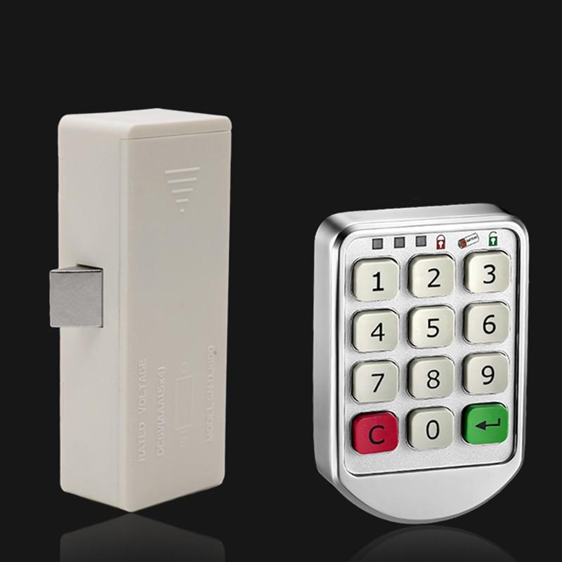 купить Electronic Digital Password Lock Digital Key Pad Numbers Door Lock Combination Drawer Lock for Wood Cabinet Code Password Locks по цене 1162.08 рублей