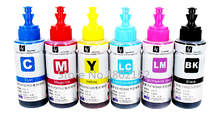 US $18 99 15% OFF|Dye 6 color Refill Ink Kit 70ml*6 L800 L801 ink screen  print ink for Epson L800 L801 printing ink Cartridge T6731/2/3/4/5/6-in Ink