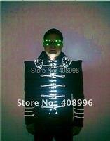 Винтаж деформированные плечо стиль светодиодной подсветкой костюмы для клуба и бара