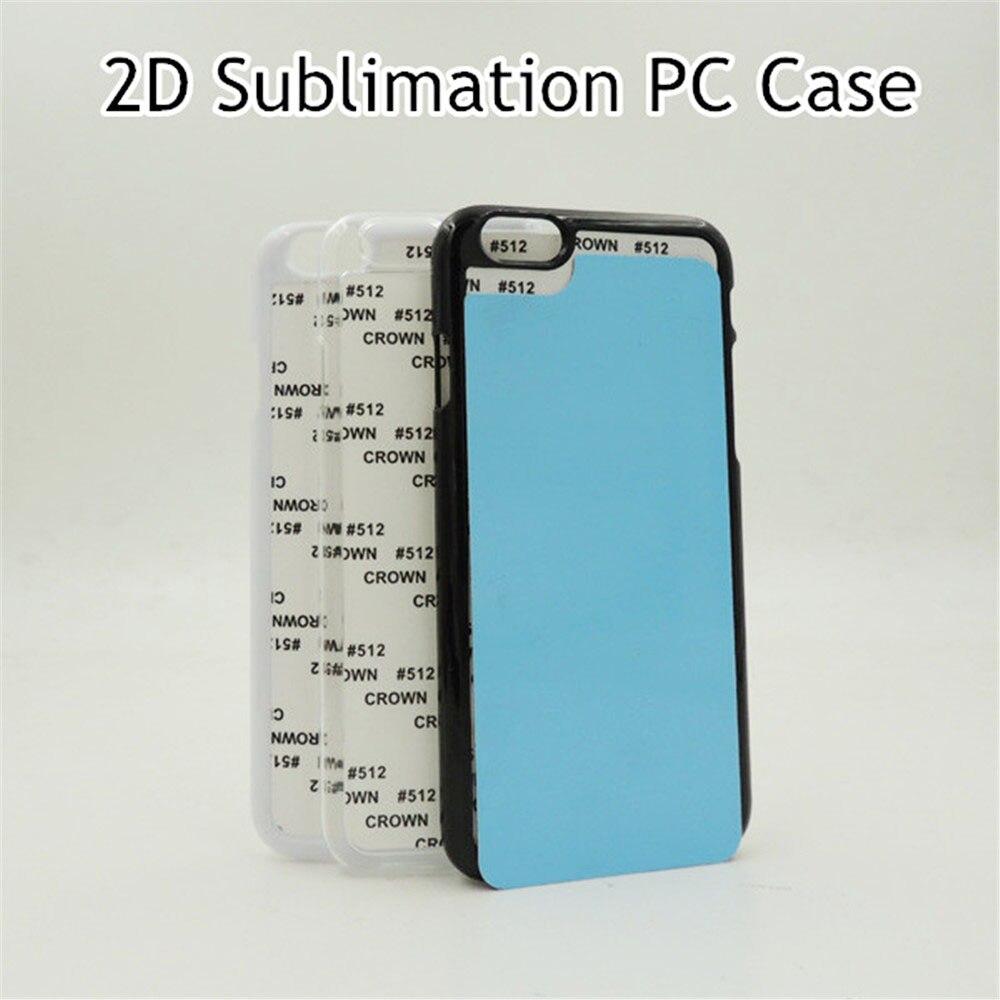 """imágenes para 10 unids/lote 2D Sublimación En Blanco Cubierta de Plástico Duro Caso Para el iphone 6 6 s 4.7 """"volver De Inserciones de Aluminio y Pegamento DIY Teléfono Capa"""