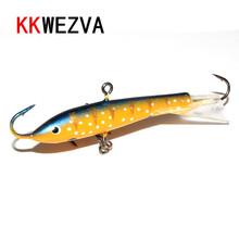 KKWEZVA Fishing Lure ice 1pc/7.5cm/20G Wobbler Peche Spoon Bait Fishing Tackle Winter Artificial Hard Fake Fish Metal Lures Set