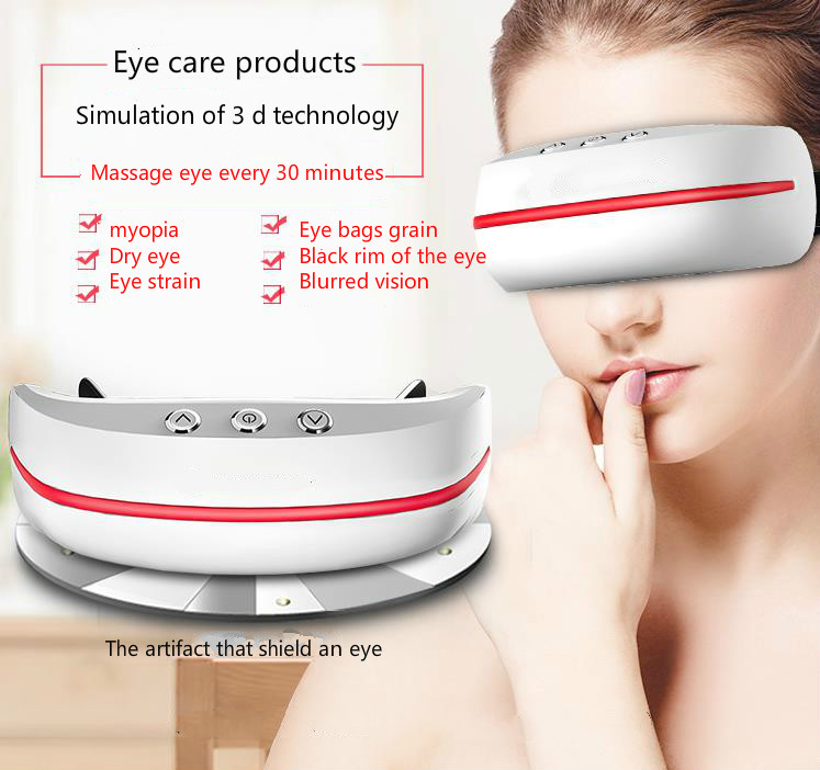 Hot eye care massager alleviate eye myopic eye instrument training students eyesight eye massager protection instrument free shipping new air pressure eye massager with mp3 6 functions dispel eye bags eye magnetic far infrared heating eye care