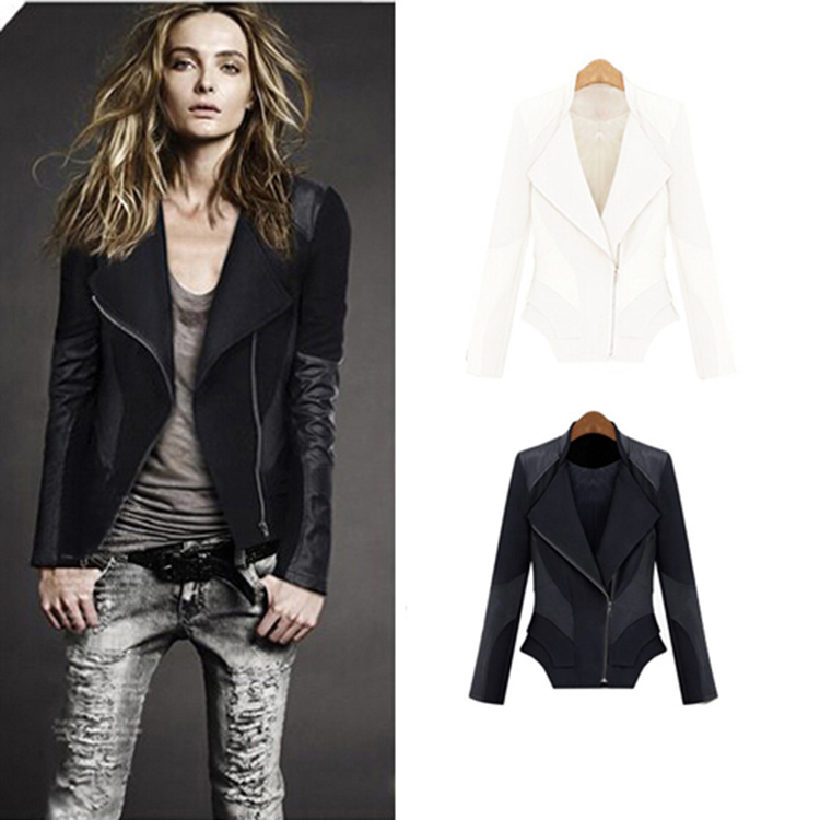 58cdae61d US $25.98 |2015 Leather jacket women Chaquetas Mujer Blusa DE Frio Manteau  femme Jaqueta de couro feminina Winter jacket women-in Basic Jackets from  ...