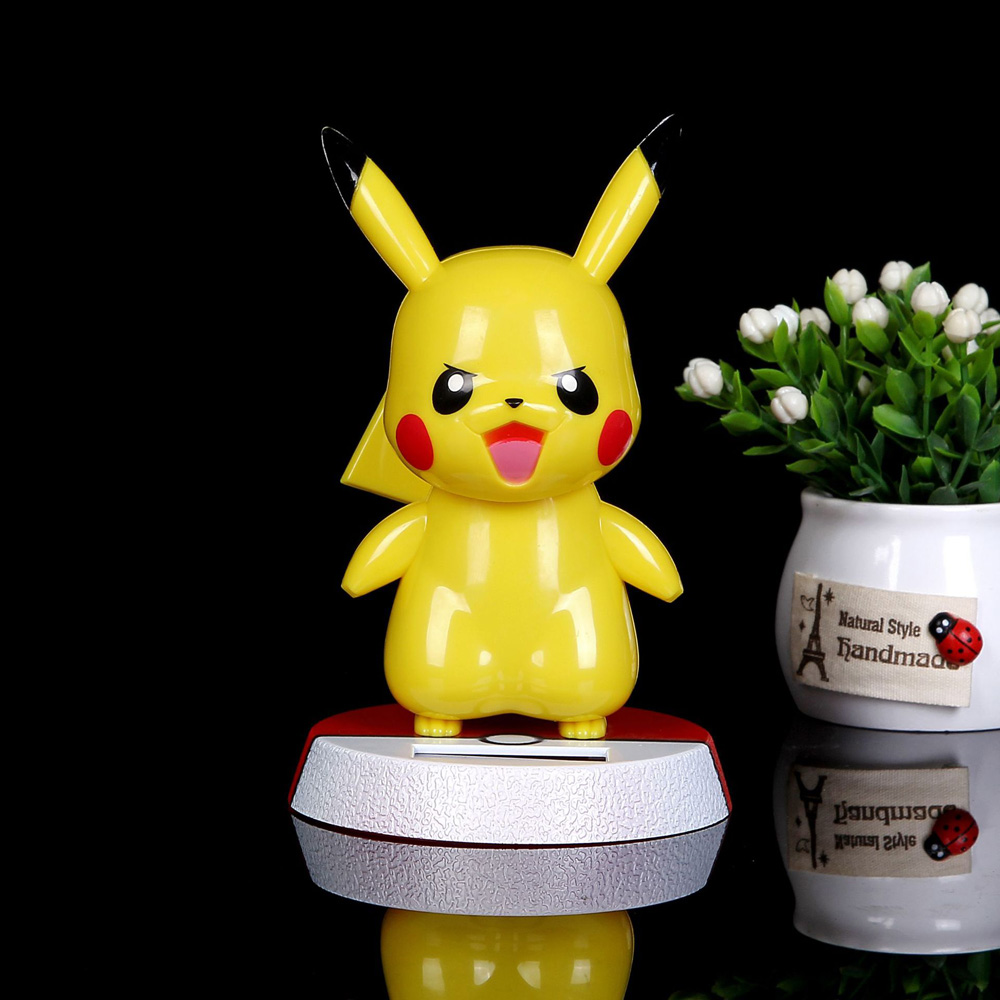 Image 4 - Car Ornament Cute Hot Solar Powered Dancing Figures Pokemon One Piece Swinging Bobble Dancer Solar Toys Car Decoration Gift-in Ornaments from Automobiles & Motorcycles