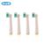 Oral B cepillo de Dientes Eléctrico Jefes EB18-4 3D BLANCO genuino Cuidado de Las Encías Original Reemplazo de Cabezas de cepillo de Dientes 4 unids = 1 pack