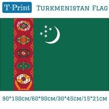 Free shipping 60*90cm 90*150cm 30*45cm Car Flag 15*21cm Turkmenistan National Flag For World Cup afc asian cup 2019 oman turkmenistan