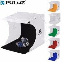 PULUZ 8 Inch 2 LED Panels Folding Portable Light Photo Lighting Studio Shooting Tent Box Kit