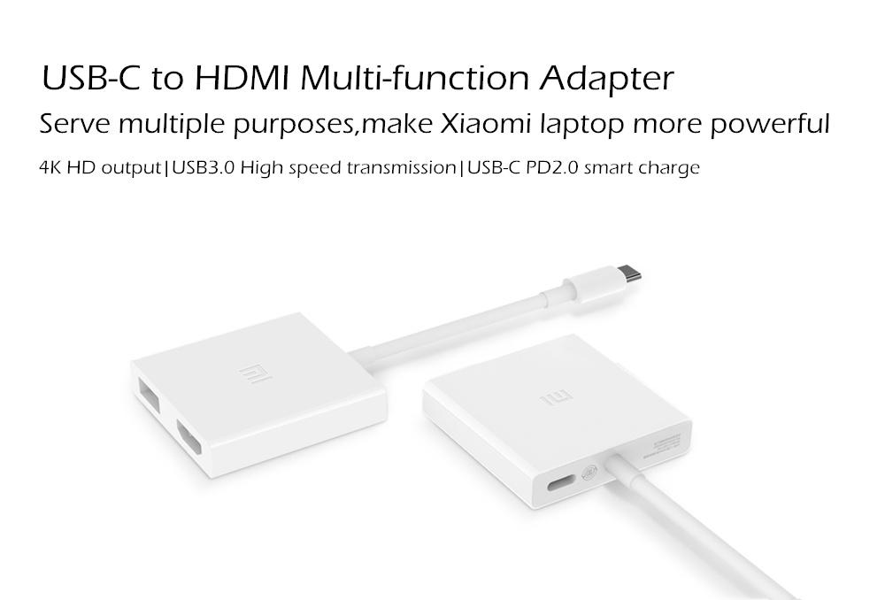 Mi Type-C to USB HDMI Conversion Adapter - White