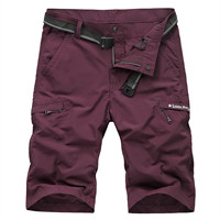 4XL Men Outdoor Camping Hiking Quick Drying Shorts Climbing Modal Fabric Male Sandy Beach Working Cargo Summer Short Trousers