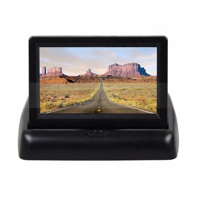 DIYKIT 4.3 polegada TFT LCD Dobrável Monitor de Visão Traseira Do Carro Do Reverso Do Carro Monitor para VCR Camera DVD