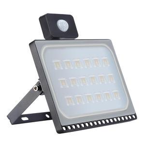 Newnest 10 W/20 W/30 W/50 W/100 W Indução luz de inundação holofote Fina IP65 Com Iluminação de Rua Ao Ar Livre Do Sensor PIR Ajustável