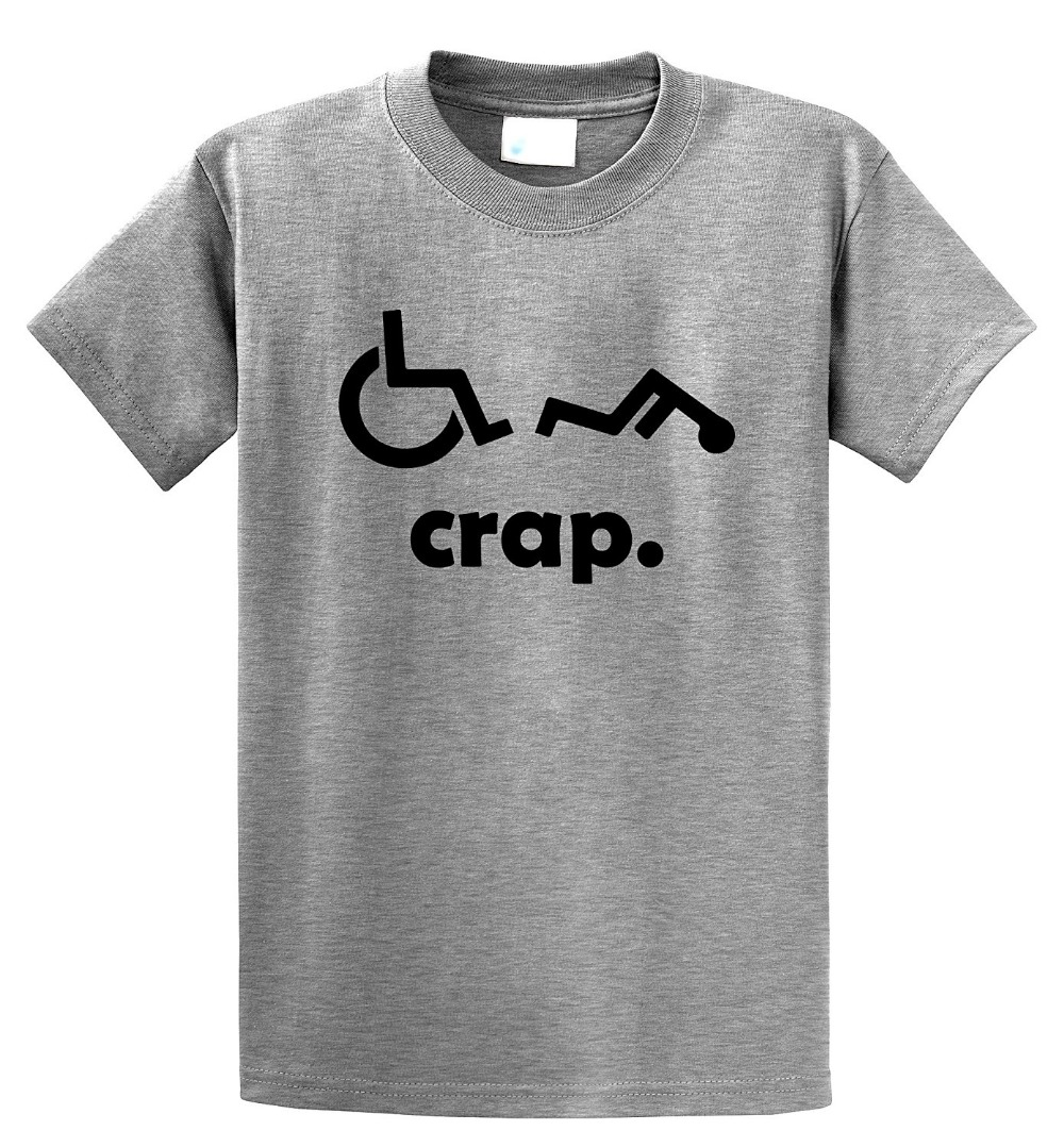 Personalised T Shirts O-Neck Short Sleeve Crap Handicap Design Mens T Shirts