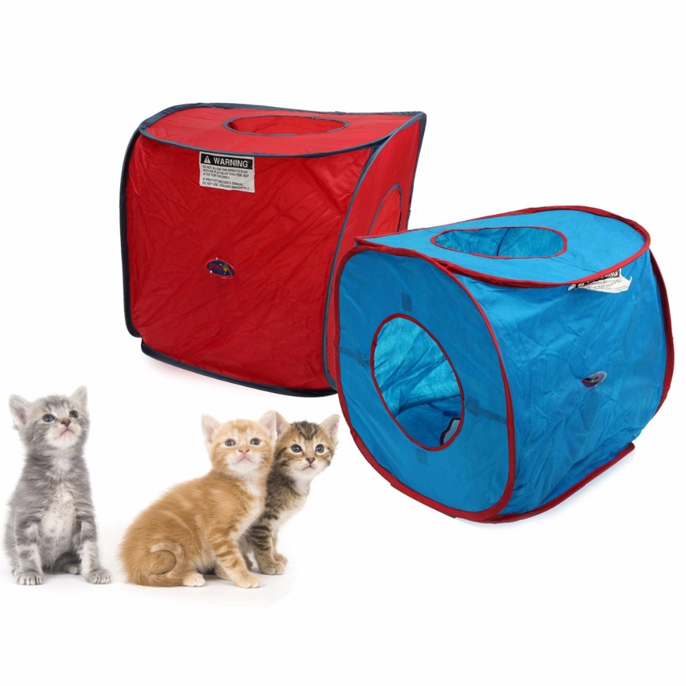 Portable Cat Tent Pop Up Dog Kitten Play Cube Cat Puppy Rabbit House Bed Pet Toy Playpen Pet Kennel-in Cat Beds u0026 Mats from Home u0026 Garden on Aliexpress.com ...  sc 1 st  AliExpress.com & Portable Cat Tent Pop Up Dog Kitten Play Cube Cat Puppy Rabbit ...