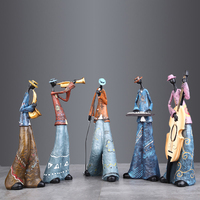 European creative band decoration art musical instrument music character model bar living room wine cabinet home soft decoration