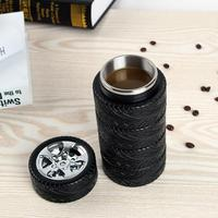 Stainless Steel Mug Milk Cup Of Coffee Cup Tire Cup Simulation Modeling Cup Pc Men And